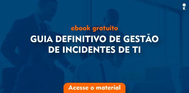 """banner de ebook gratuito com o título de """"guia definitivo de gestão de incidentes de TI""""."""
